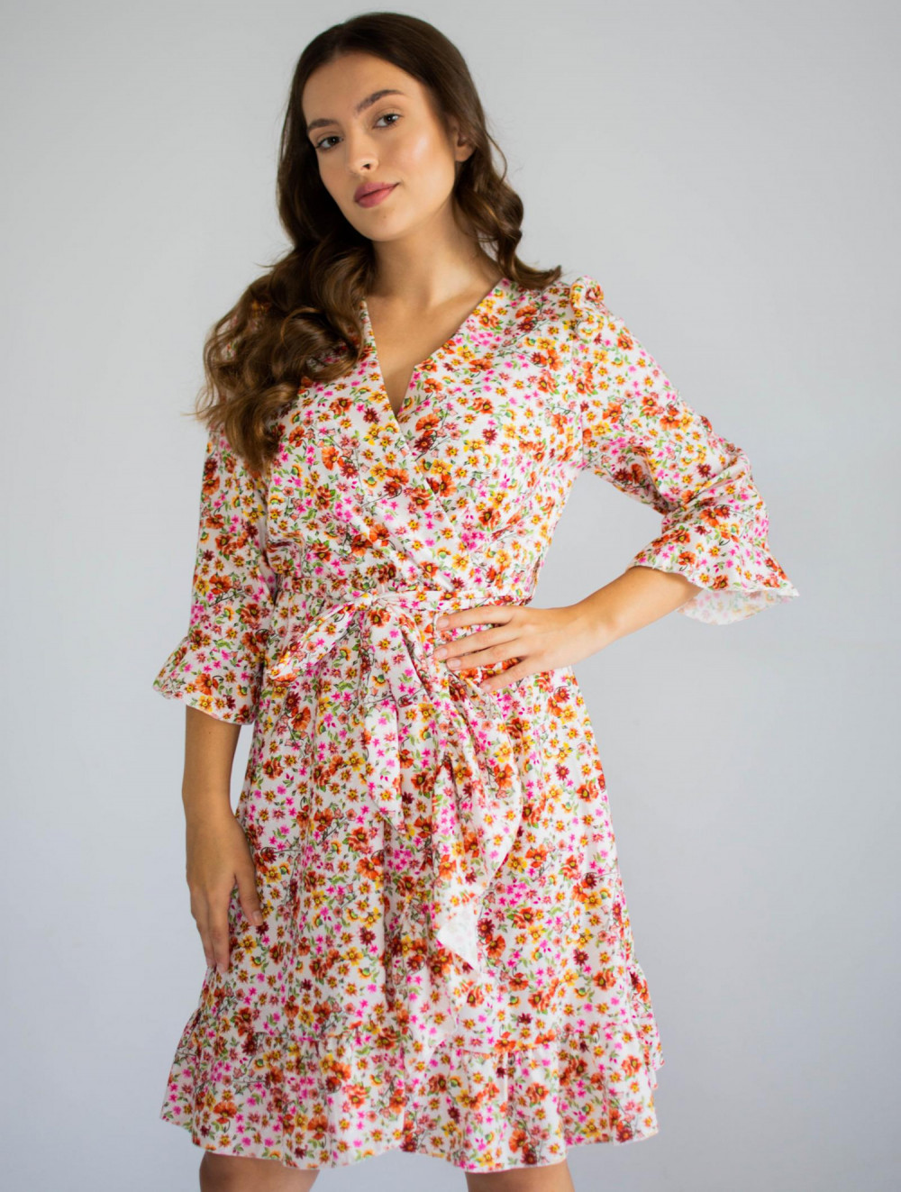 Sukienka przekładana w kwiaty Maya 5