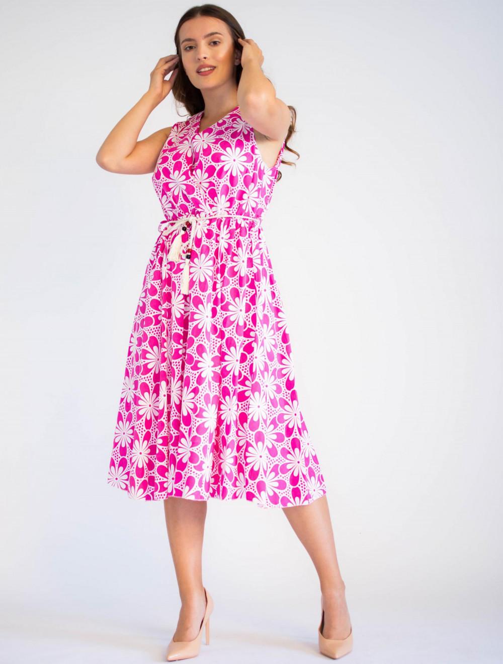 Sukienka przekładana z dekoltem V-Neck Charlotte 4