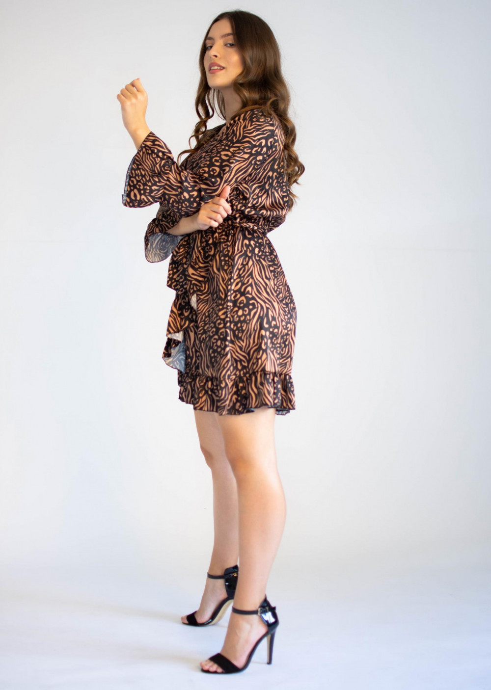 Sukienka przekładana z falbankami we wzory Sofie 2