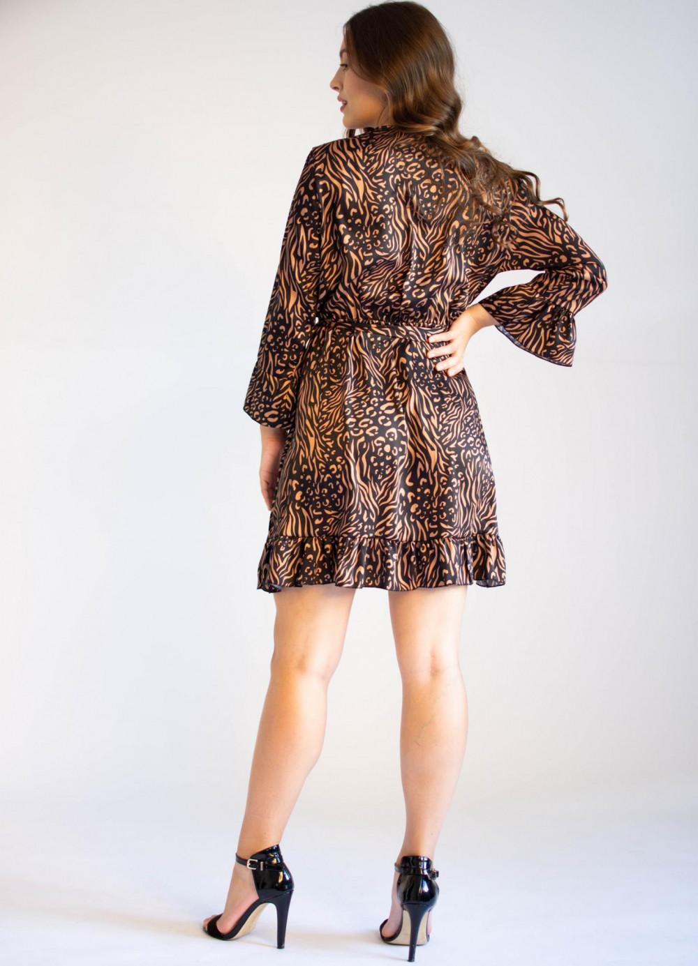 Sukienka przekładana z falbankami we wzory Sofie 3