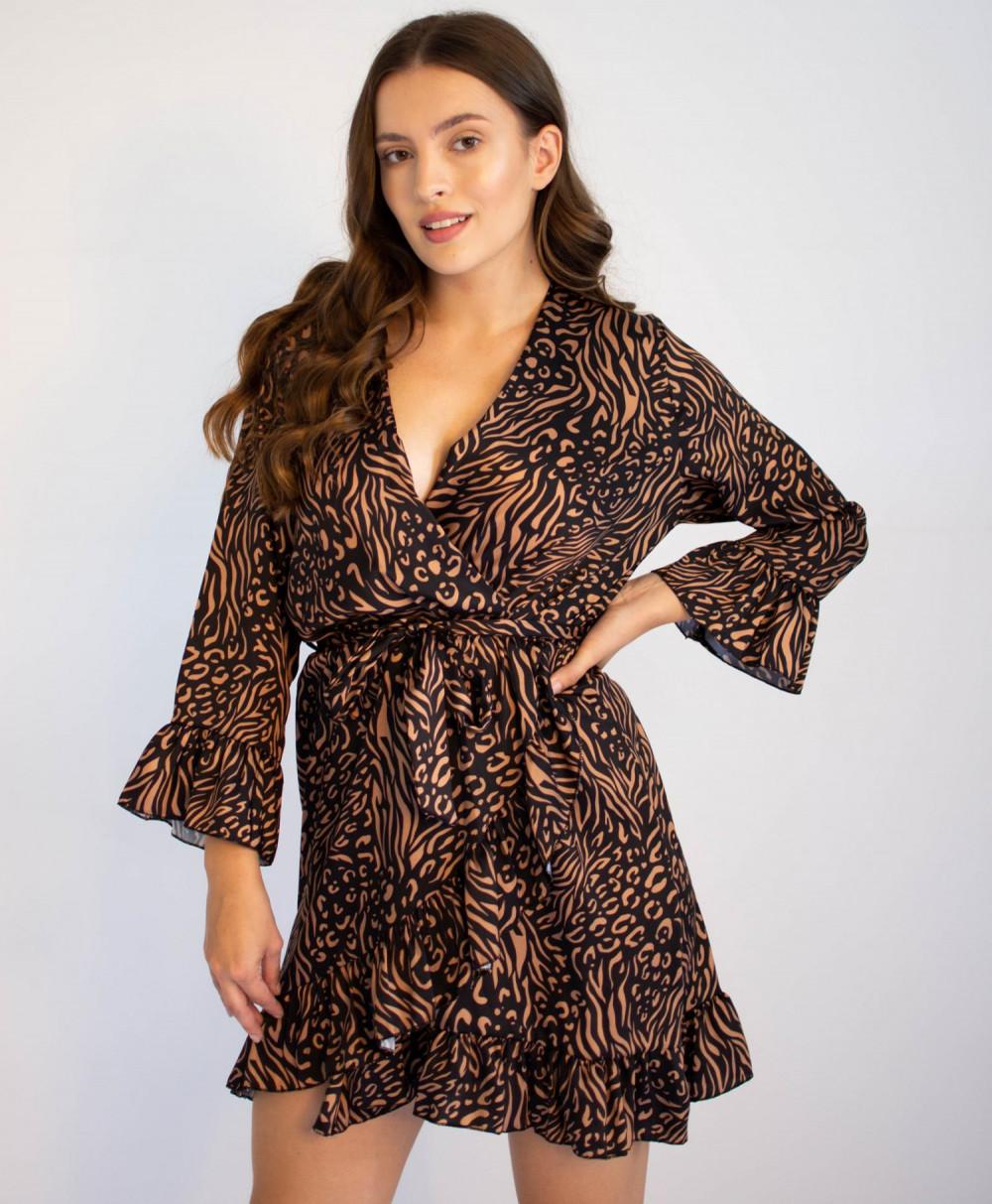 Sukienka przekładana z falbankami we wzory Sofie 4