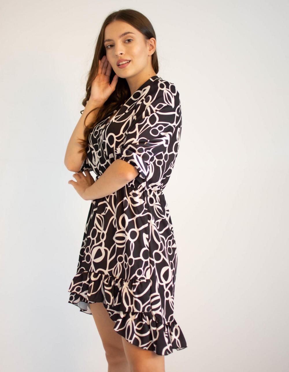 Sukienka przekładana z falbanką Sylvia 2