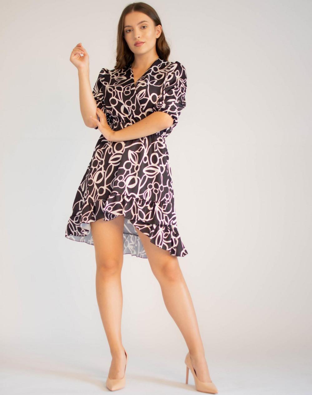 Sukienka przekładana z falbanką Sylvia 4