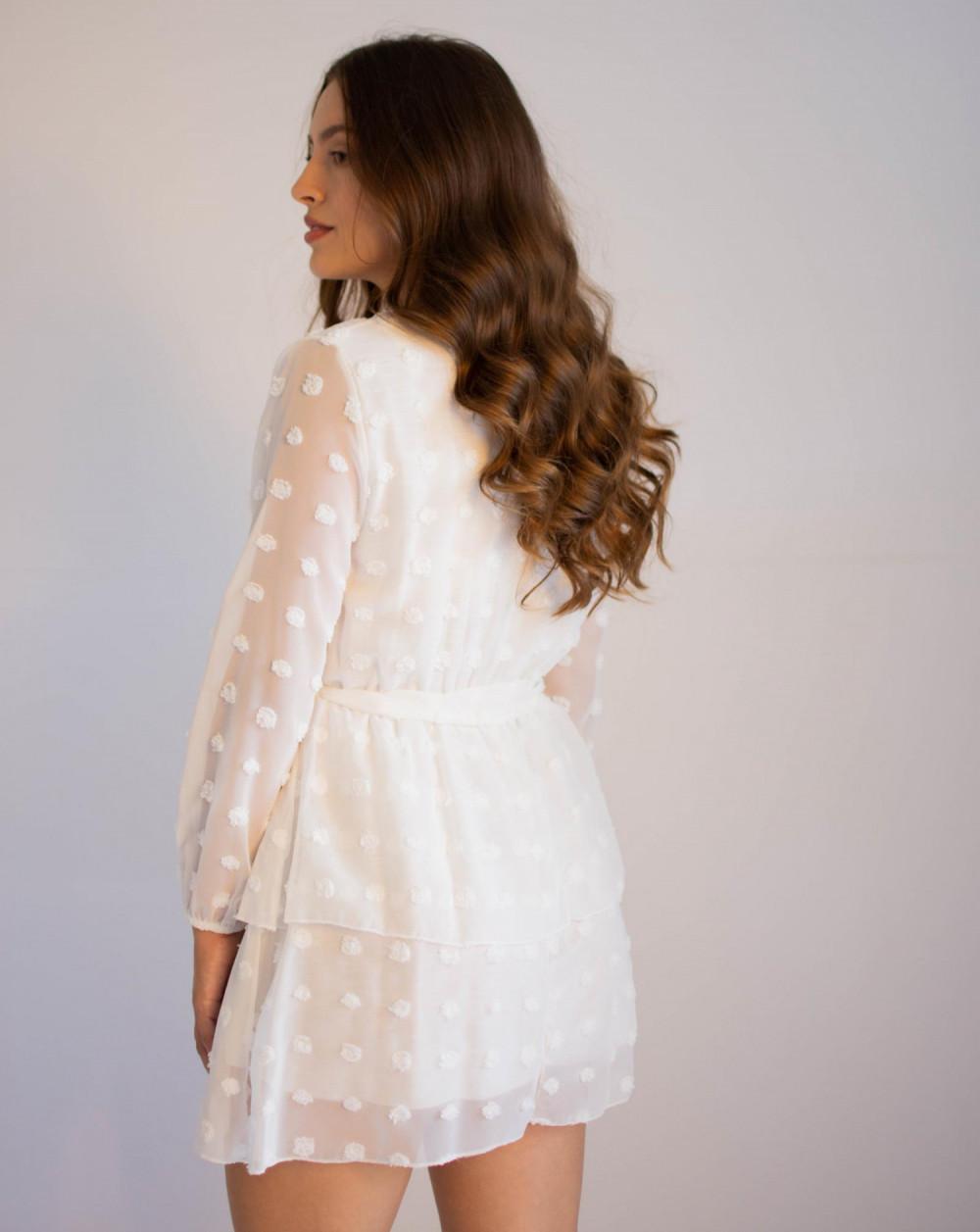Sukienka rozkloszowana w kropki Amber 1