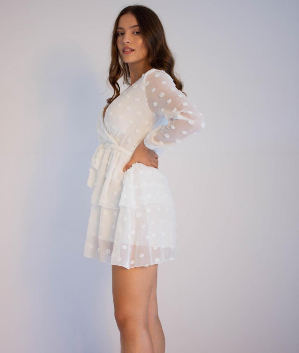 Sukienka rozkloszowana w kropki Amber 2