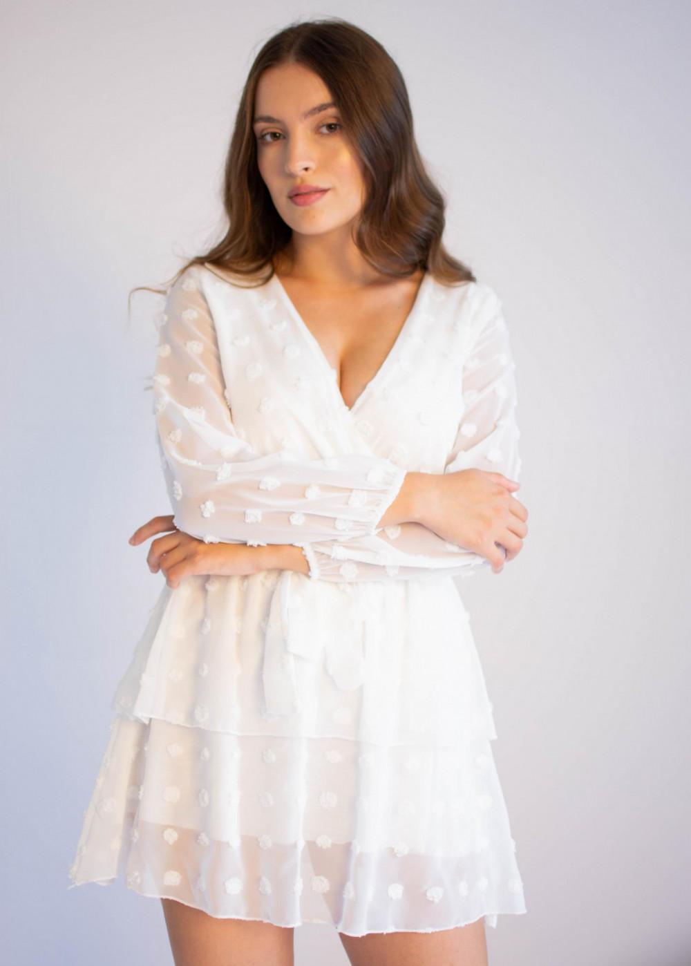 Sukienka rozkloszowana w kropki Amber 4