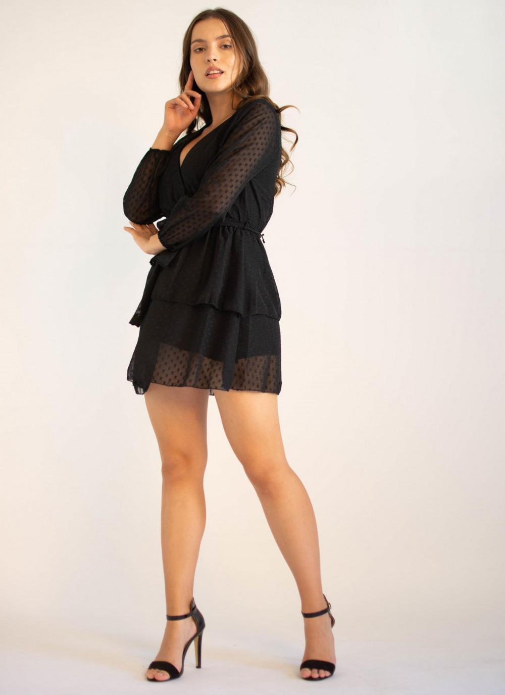 Sukienka rozkloszowana w kropki Lucy 2