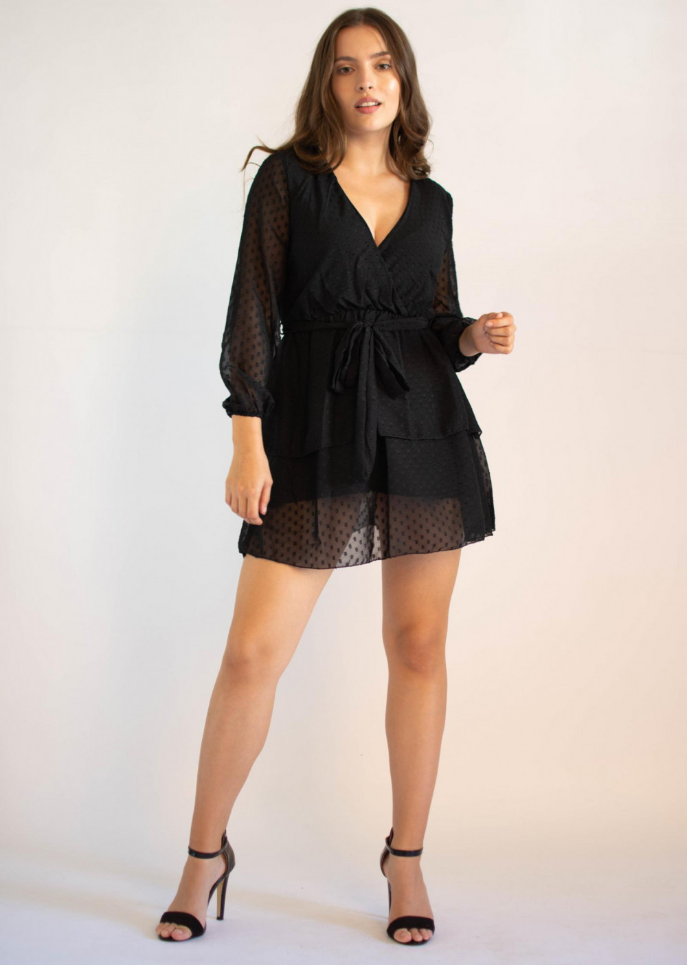 Sukienka rozkloszowana w kropki Lucy 3