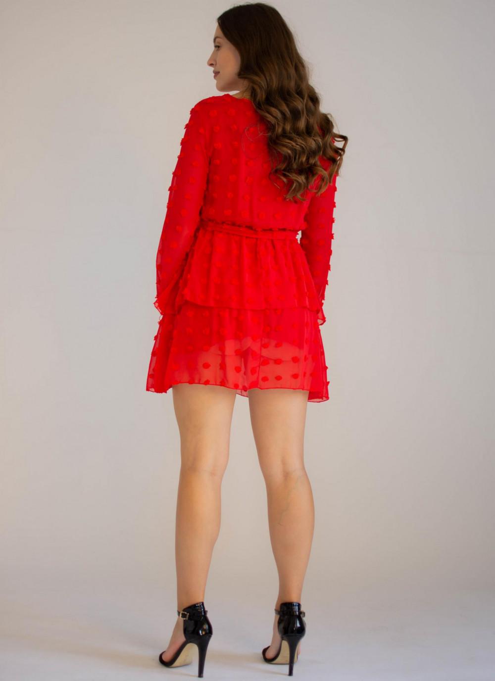 Sukienka rozkloszowana w kropki Rose 1