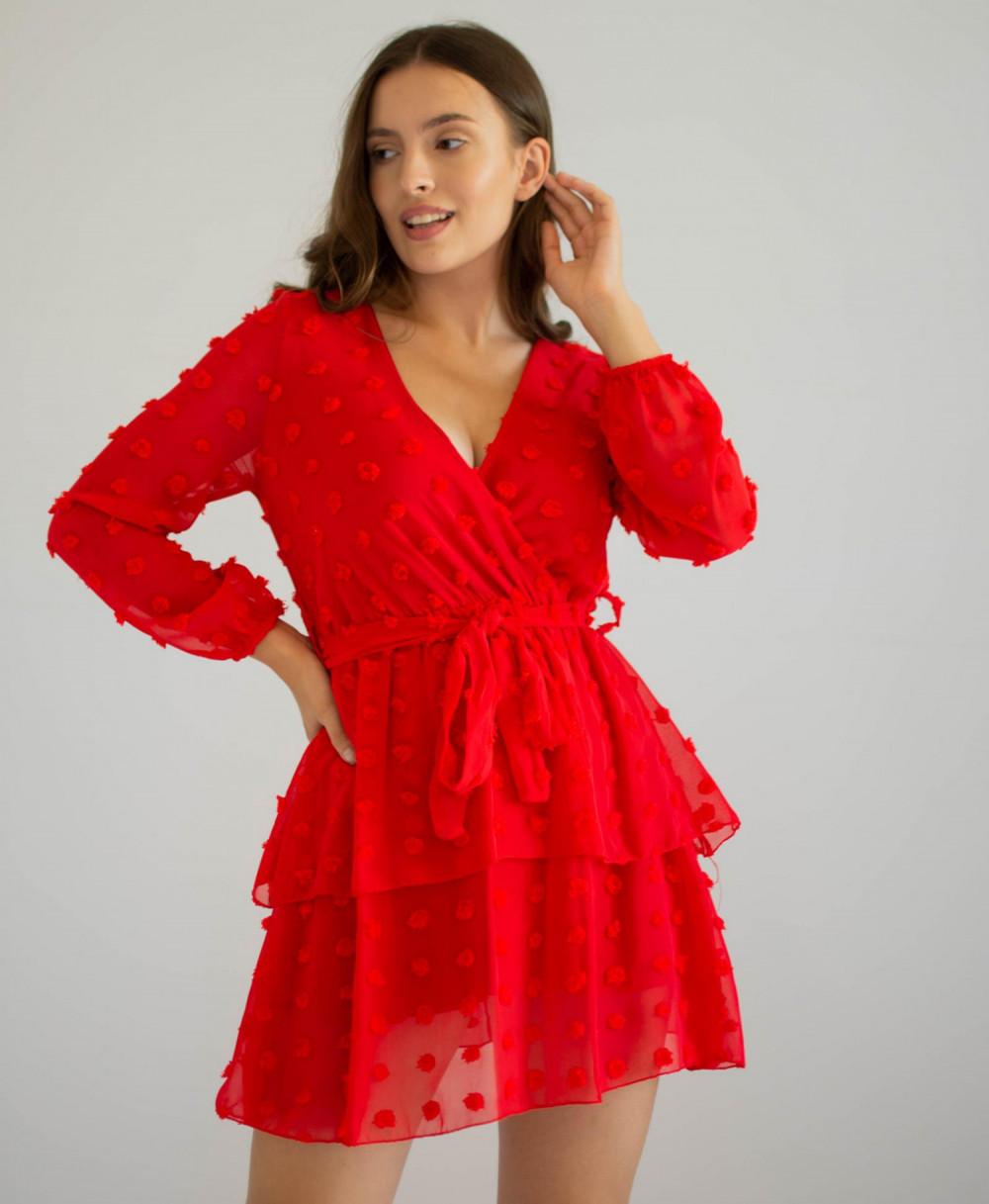 Sukienka rozkloszowana w kropki Rose 4