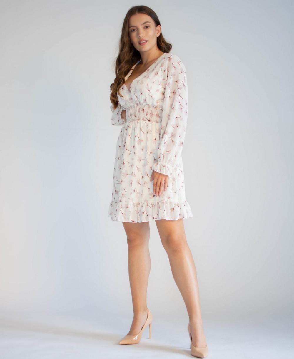 Sukienka rozkloszowana z dekoltem typu V-Neck Margaret 3