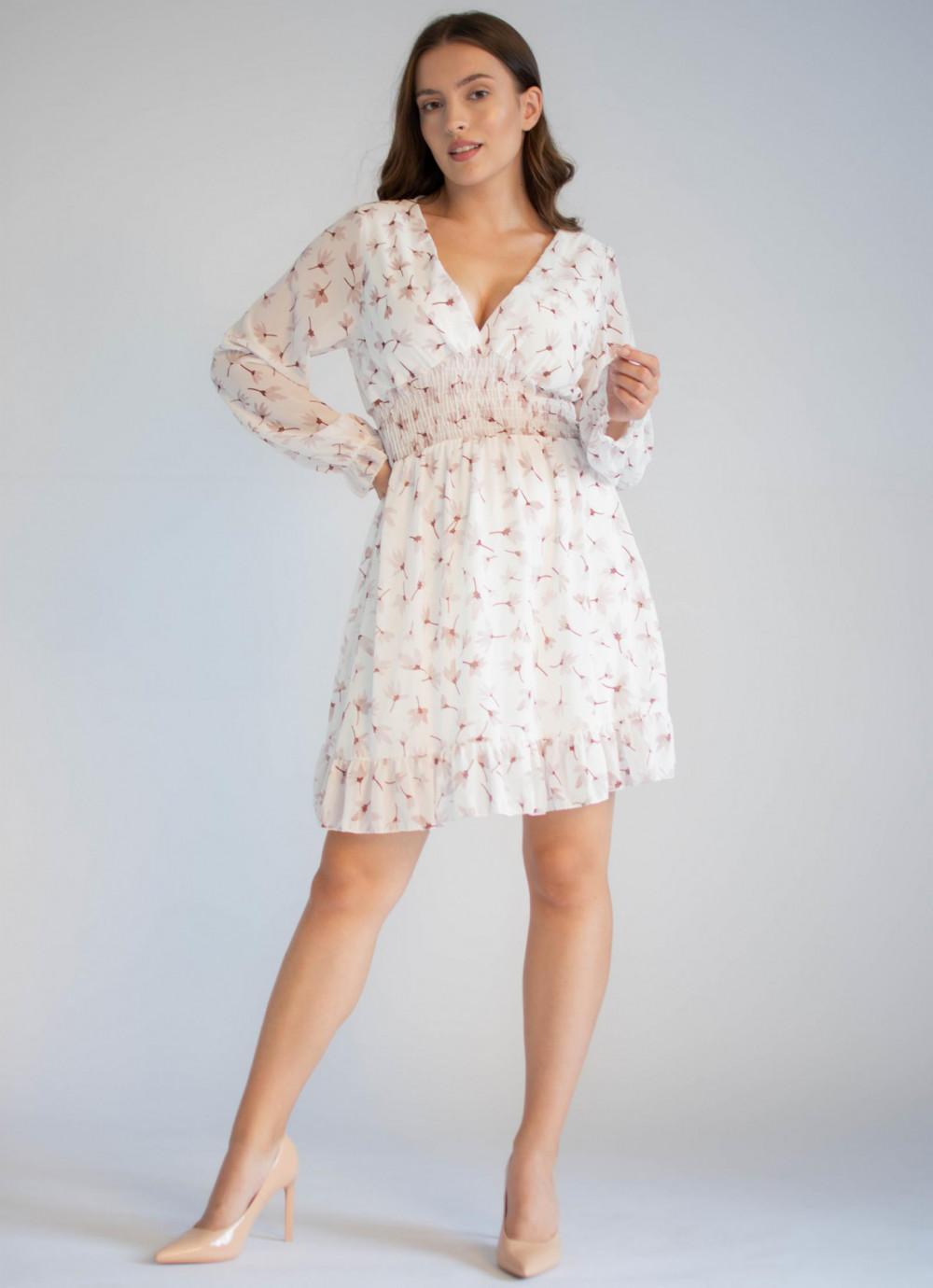 Sukienka rozkloszowana z dekoltem typu V-Neck Margaret 4