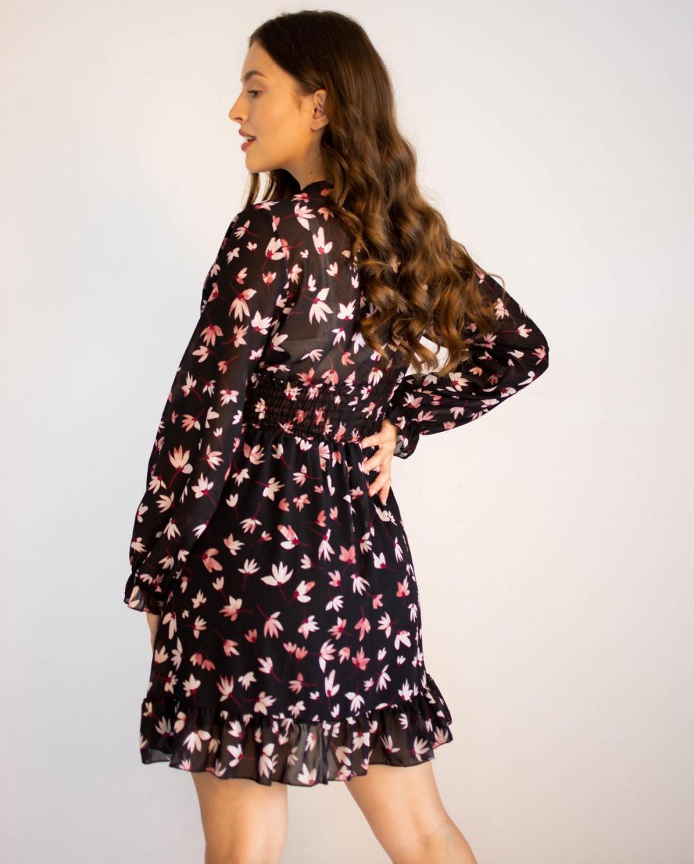 Sukienka rozkloszowana z dekoltem typu V-Neck Stacy 3