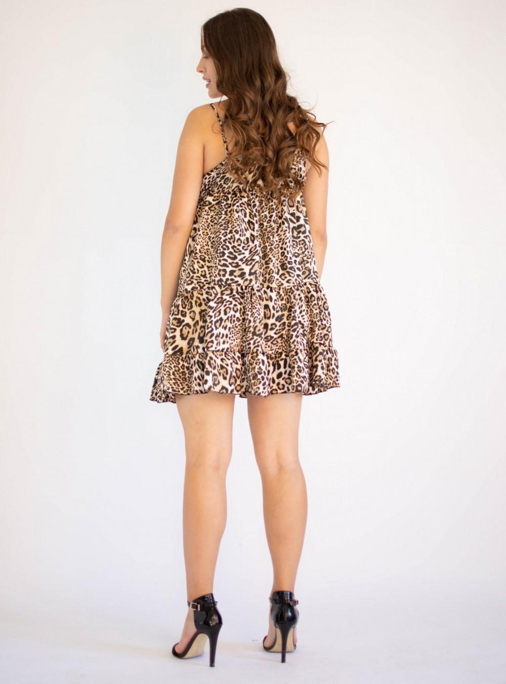 Sukienka w panterkę na ramiączkach Megan 1