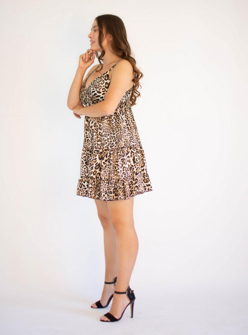 Sukienka w panterkę na ramiączkach Megan 2