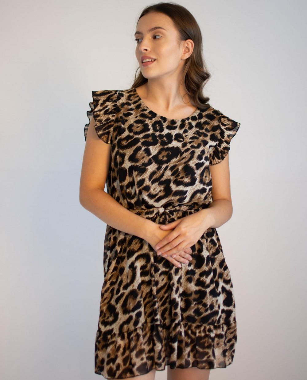 Sukienka z falbankami panterka Camilo 4