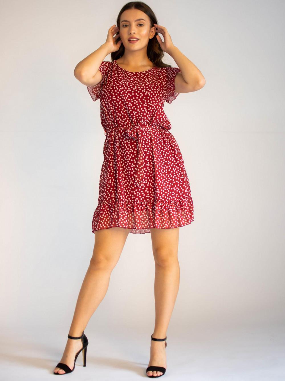 Sukienka z falbankami w kropki Emous 1