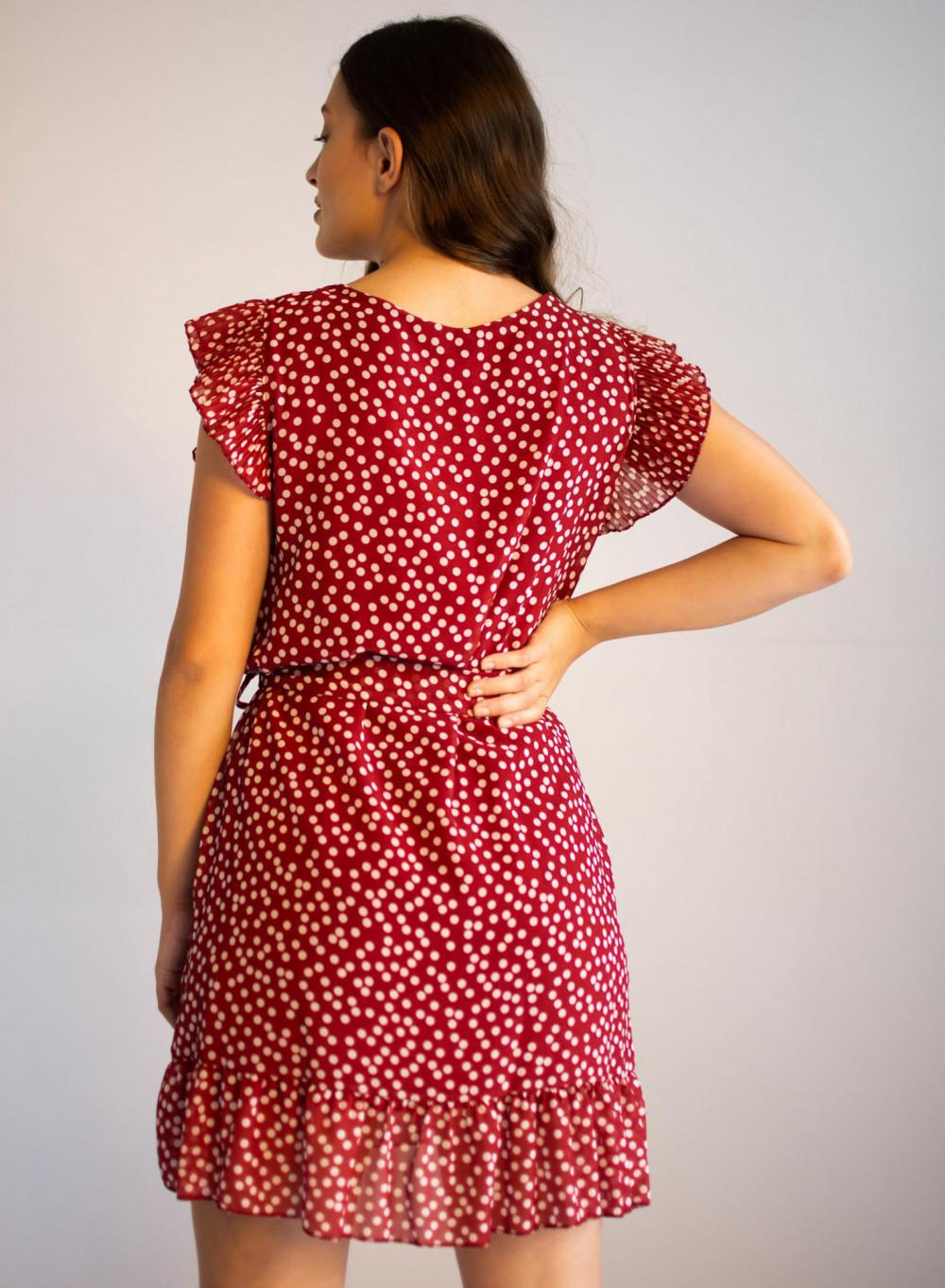 Sukienka z falbankami w kropki Emous 3