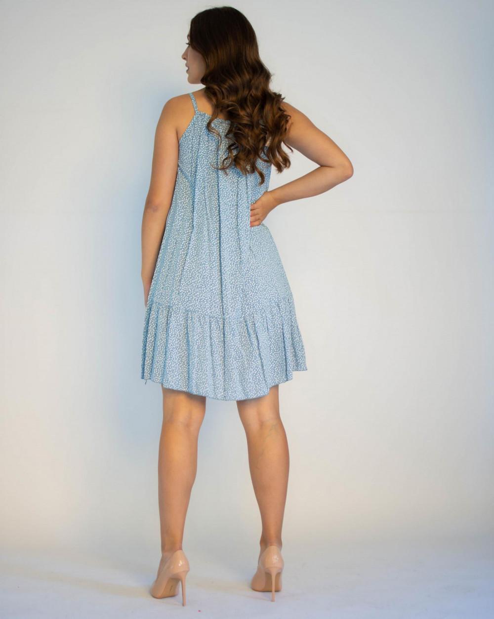 Sukienka z falbanką na ramiączkach Anyoa 1