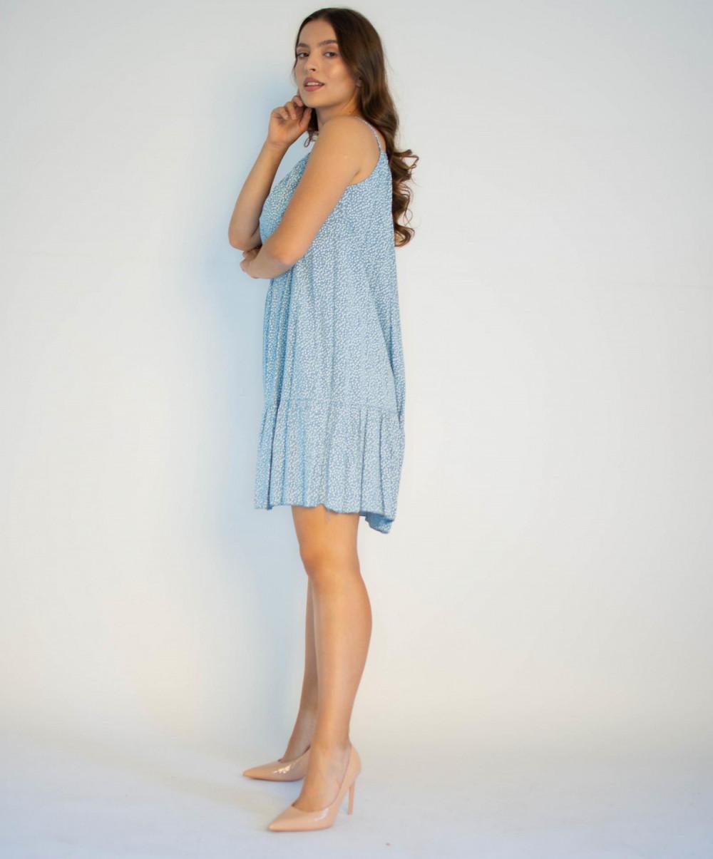 Sukienka z falbanką na ramiączkach Anyoa 2