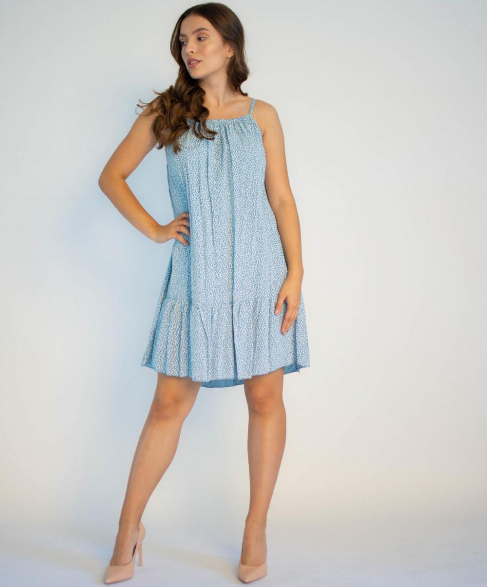 Sukienka z falbanką na ramiączkach Anyoa 3