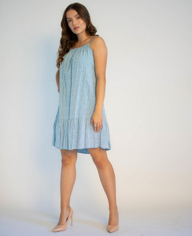 Sukienka z falbanką na ramiączkach Anyoa 4