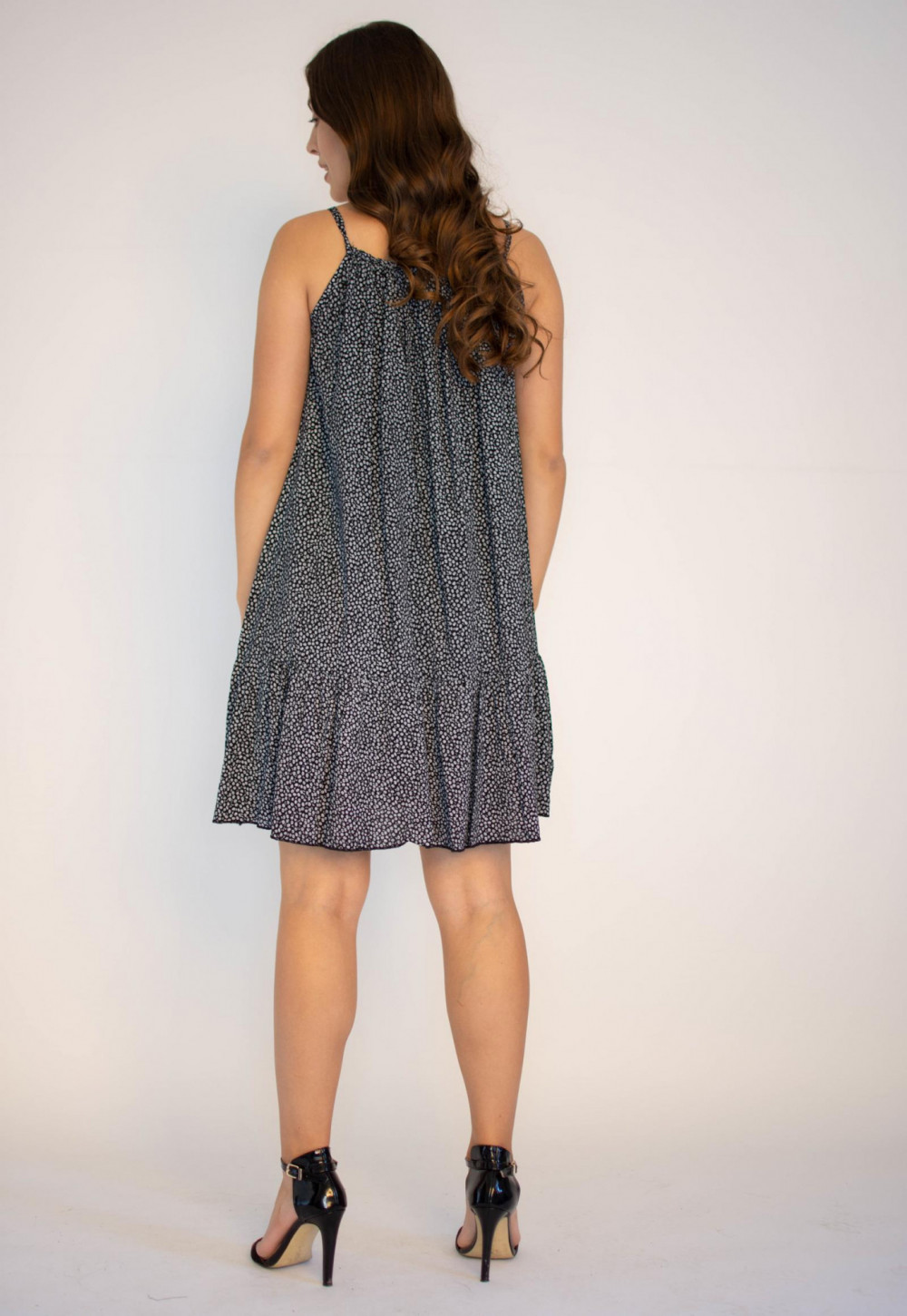 Sukienka z falbanką na ramiączkach Felicia 1
