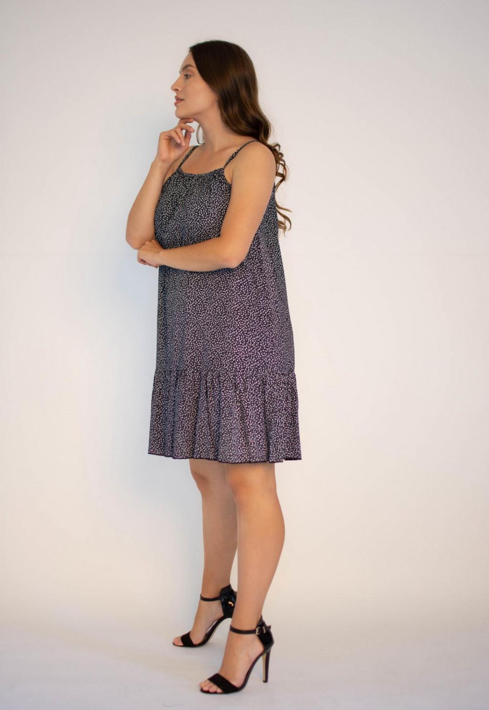 Sukienka z falbanką na ramiączkach Felicia 2