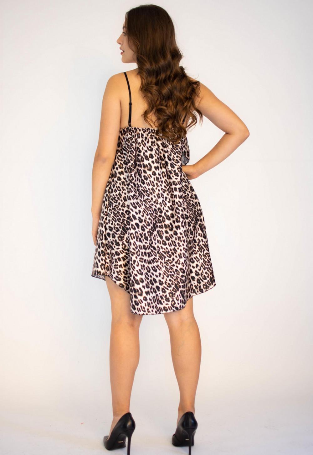 Sukienka z falbanką na ramiączkach Monica 1