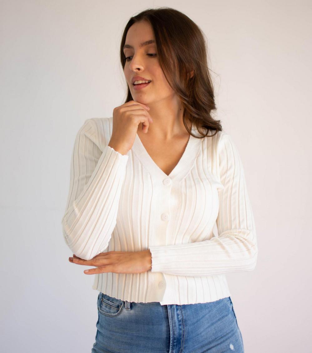 Sweter damski klasyczny z guzikami rozpinany Lauren 2
