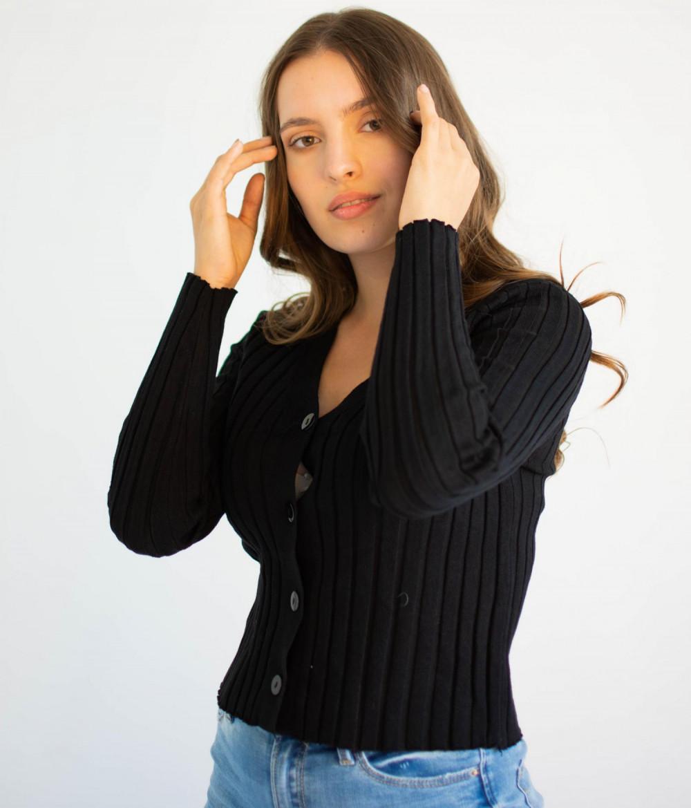 Sweter damski klasyczny z guzikami rozpinany Jane 3