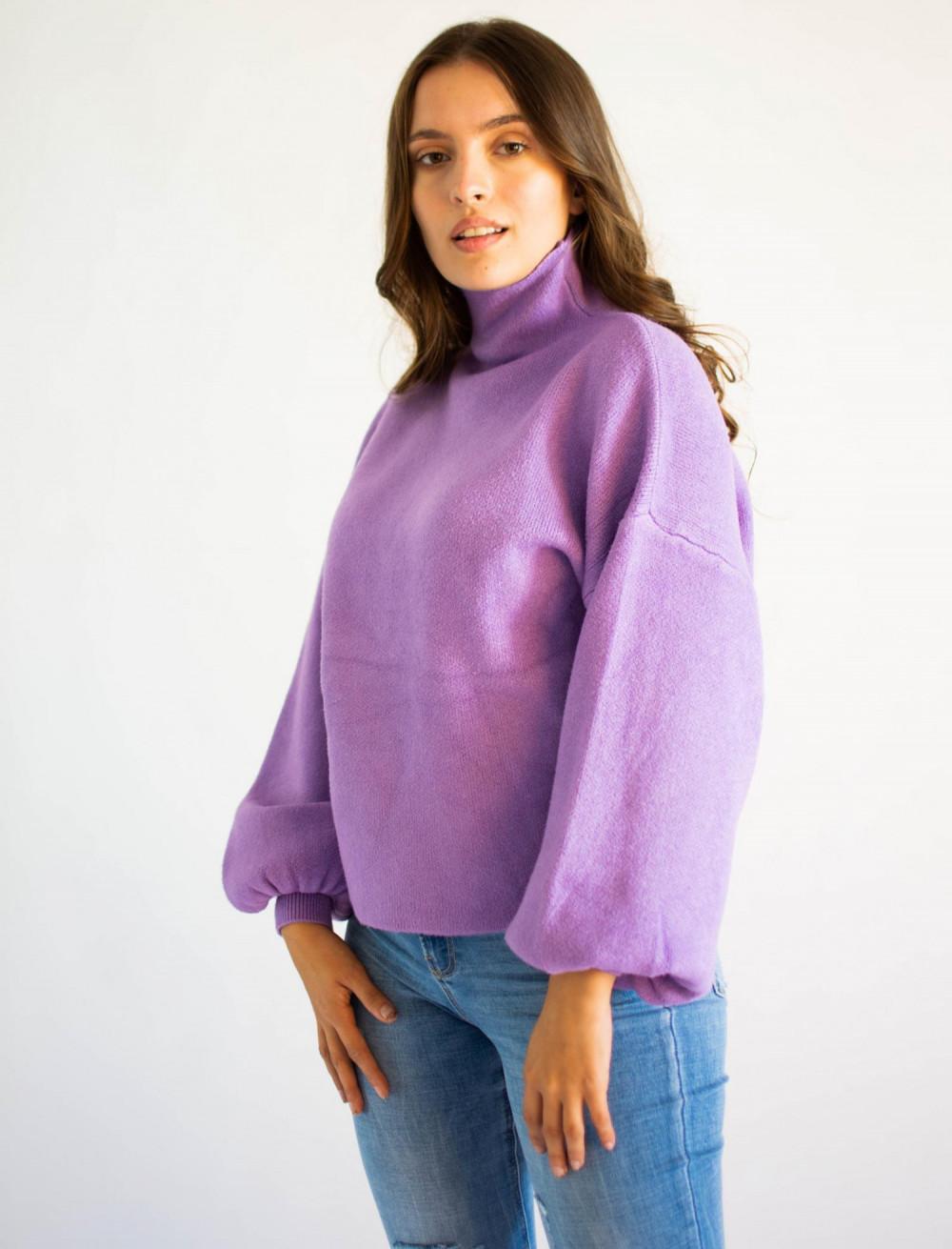 Sweter damski z golfem lilac Isabella 3