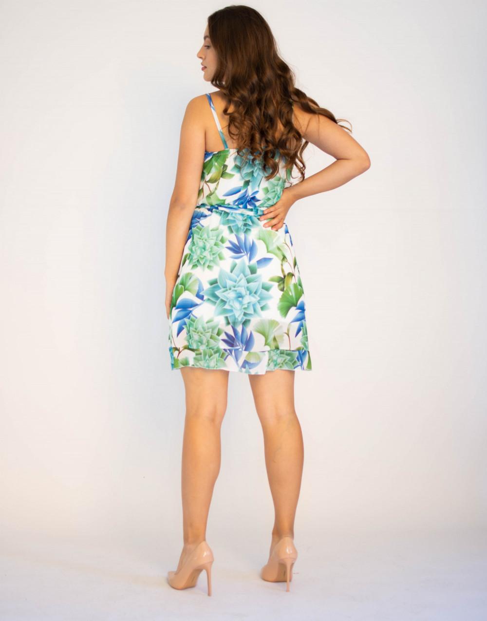 Sukienka kwiatowa na ramiączkach Chrisitina 1