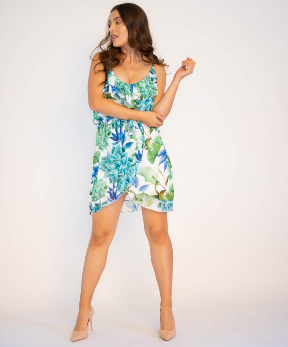 Sukienka kwiatowa na ramiączkach Chrisitina 3
