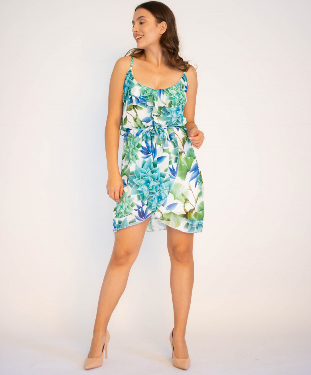Sukienka kwiatowa na ramiączkach Chrisitina 4