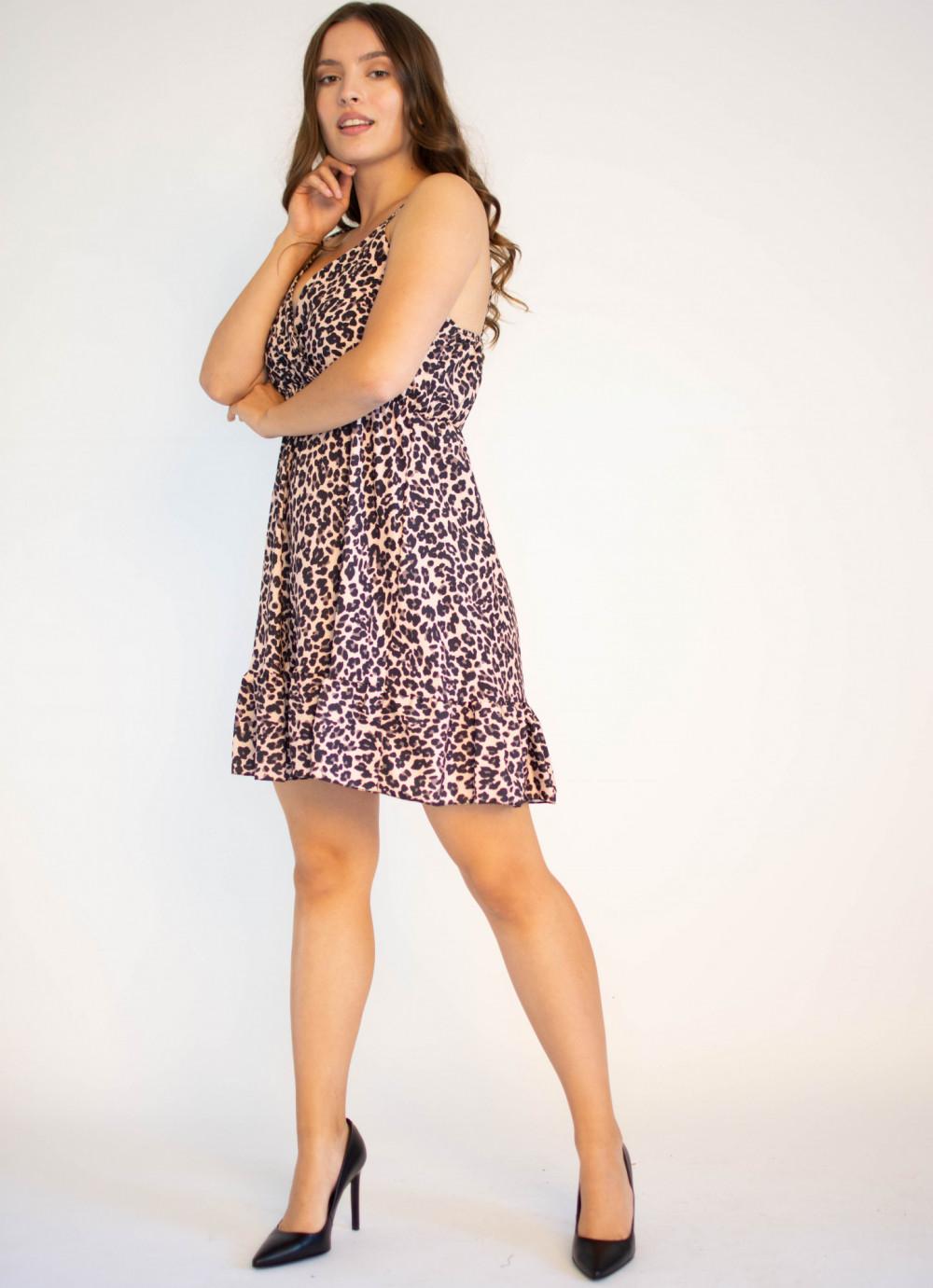Sukienka w panterkę na ramiączkach Michelle 1