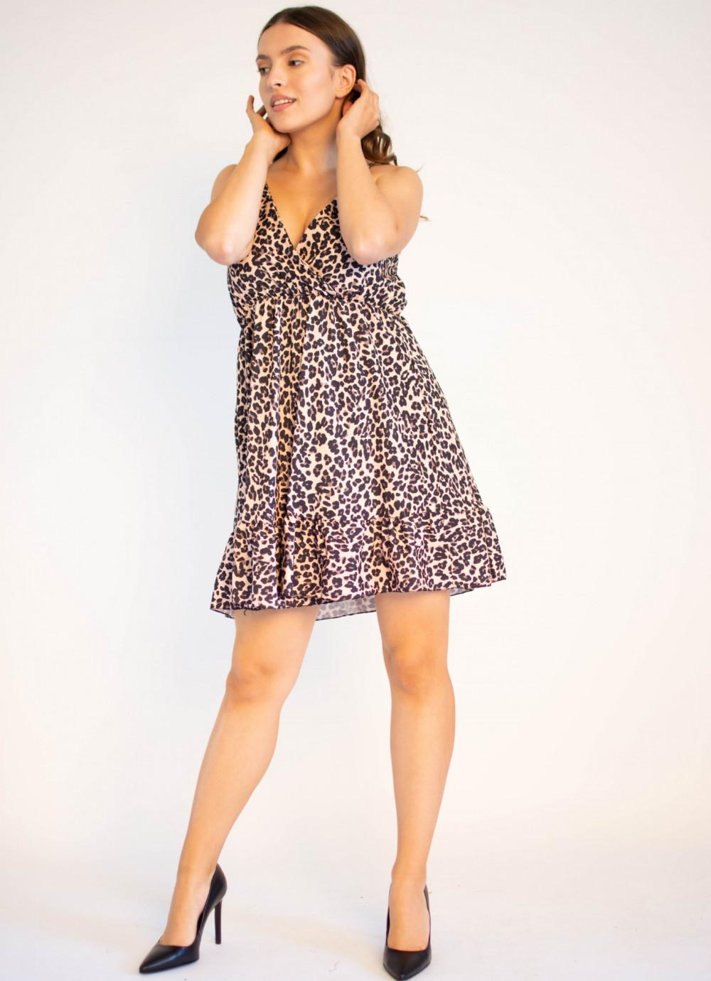 Sukienka w panterkę na ramiączkach Michelle 2