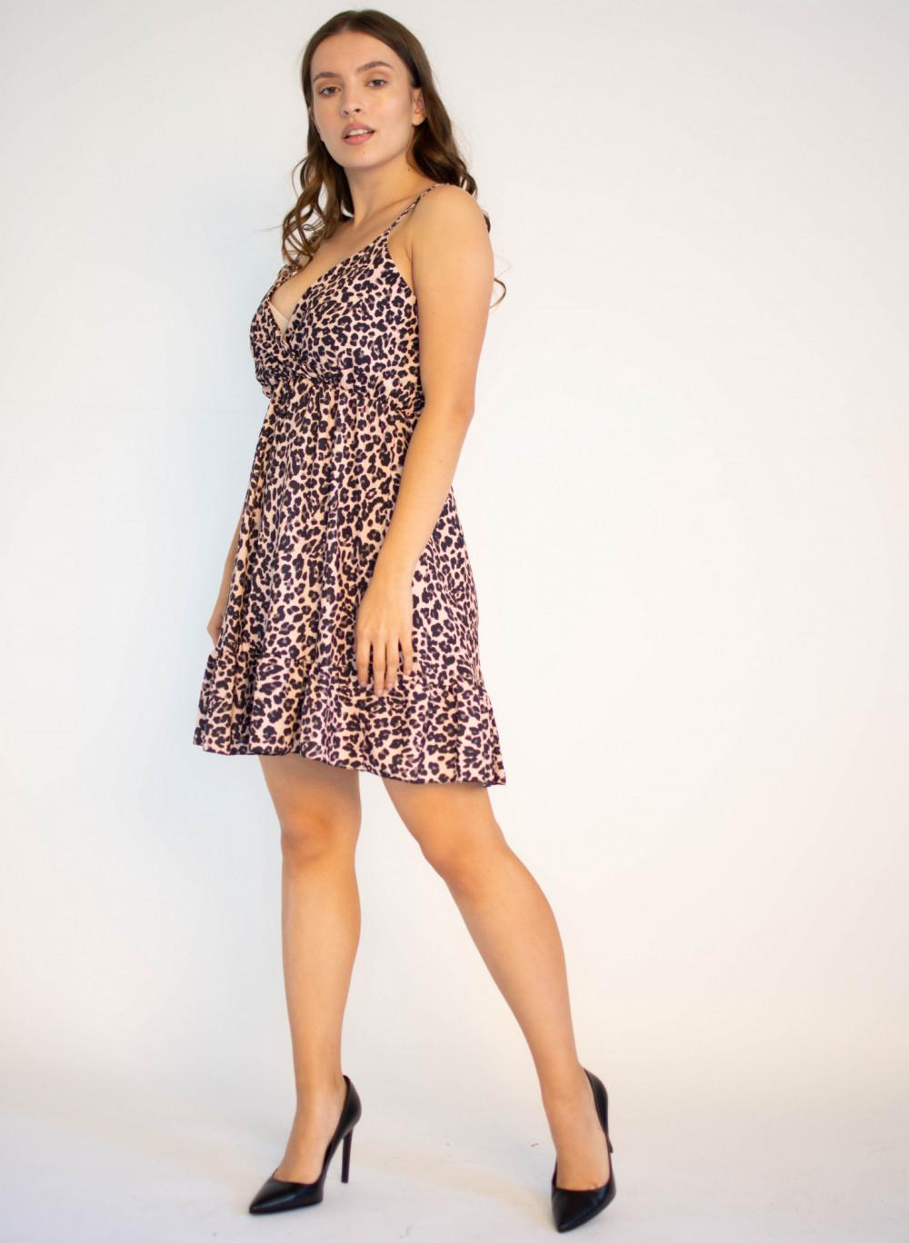Sukienka w panterkę na ramiączkach Michelle 3