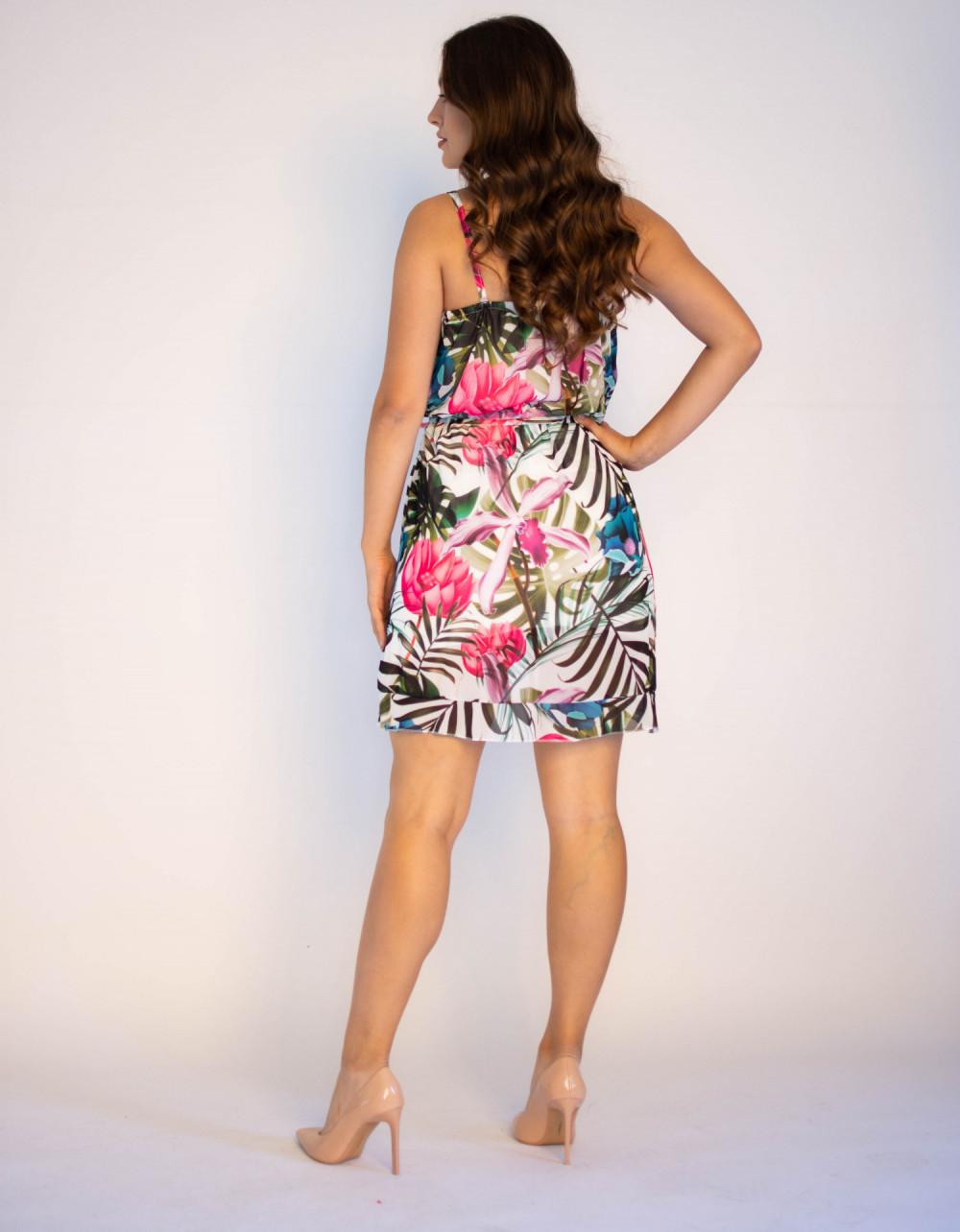 Sukienka kwiatowa na ramiączkach Angelica 1