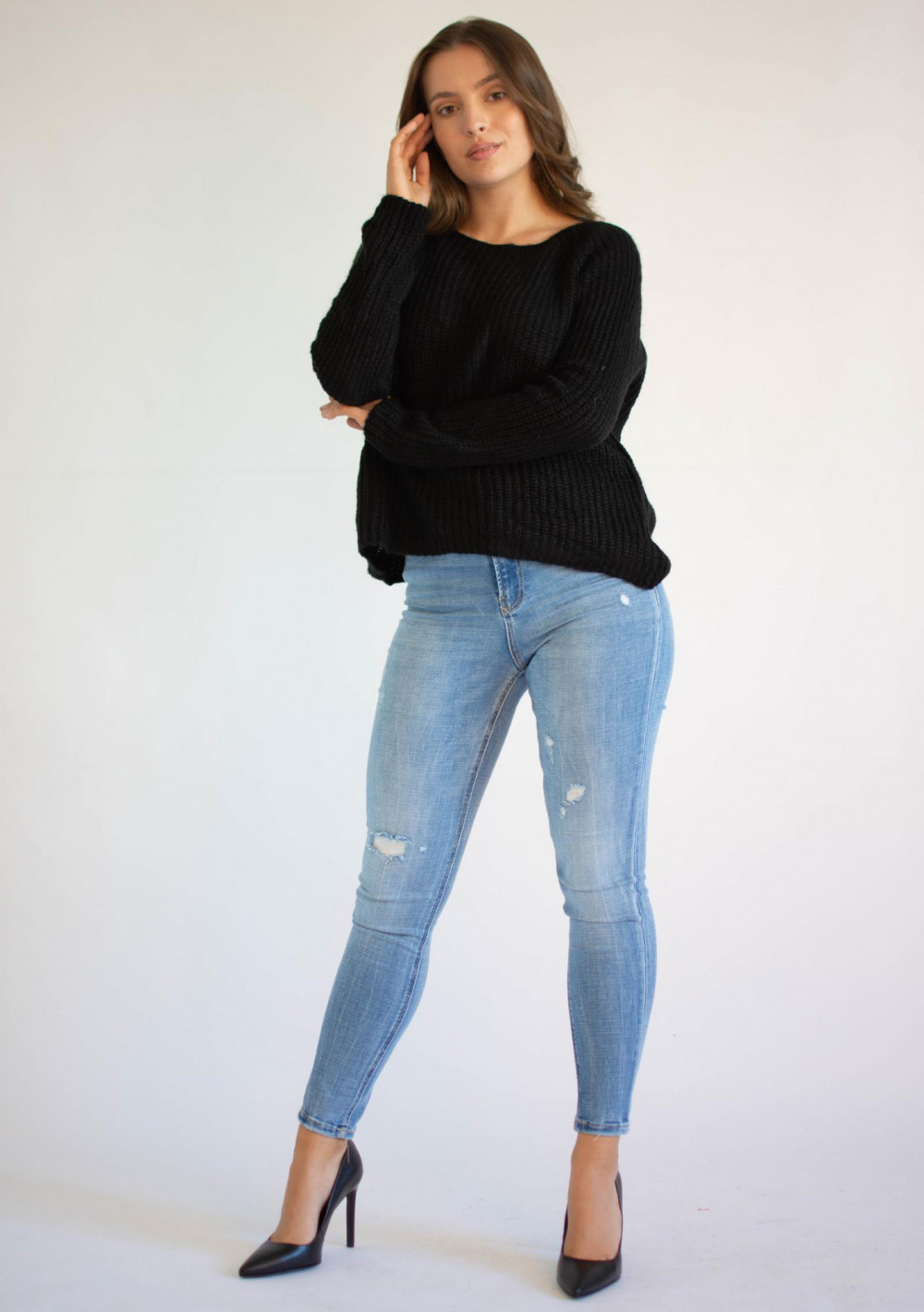 Sweter damski klasyczny Lurce 3