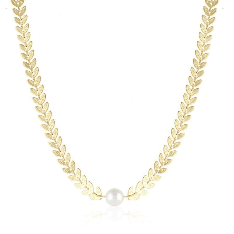 Naszyjnik celebrytka choker z perłą Marga 1