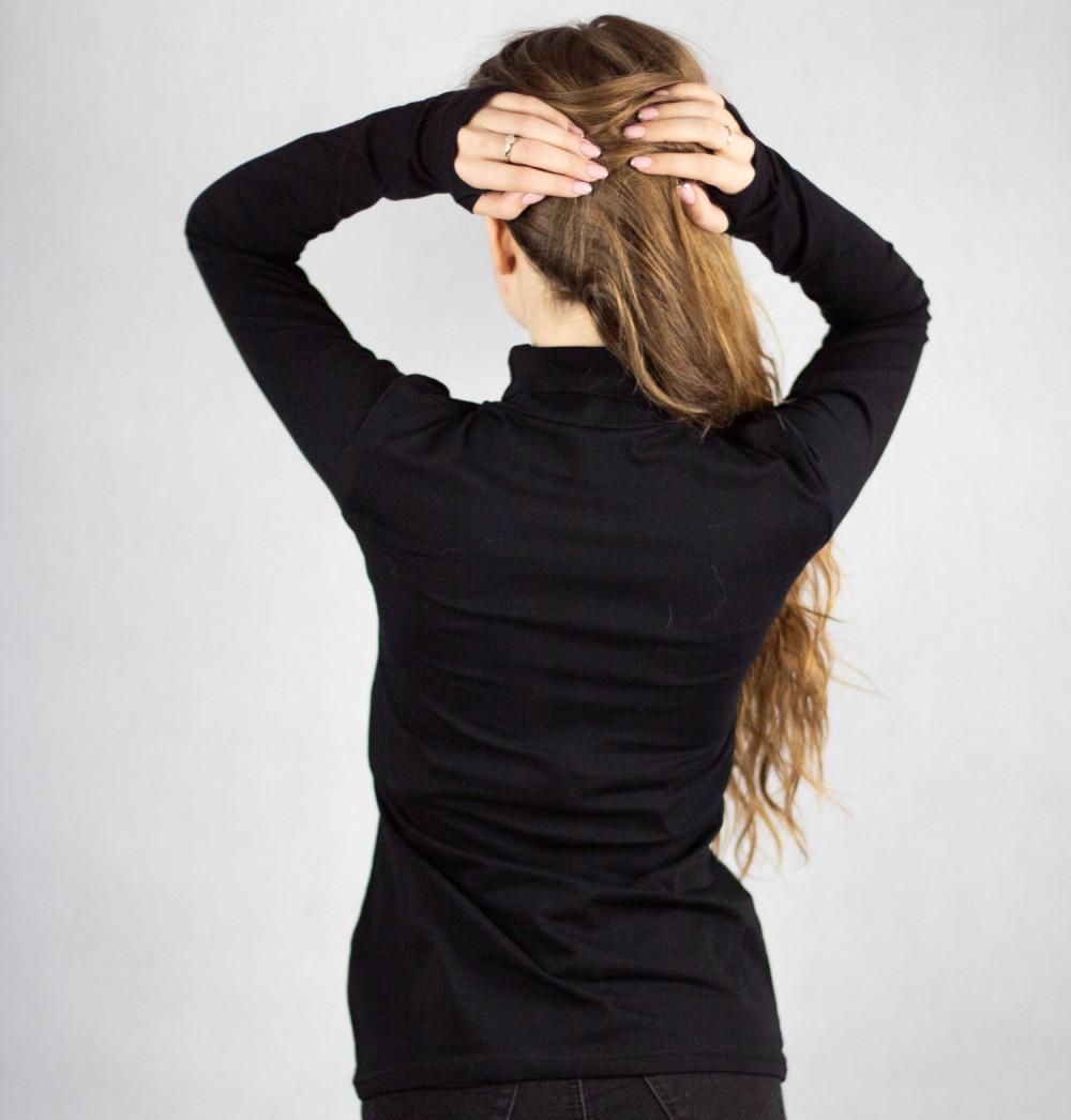 Czarna bluzka z golfem Ashley 4