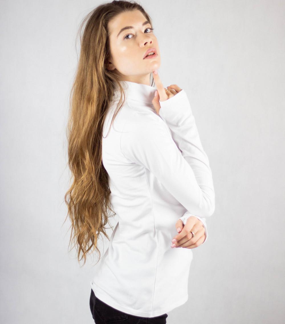 Biała bluzka z golfem Ashley 1