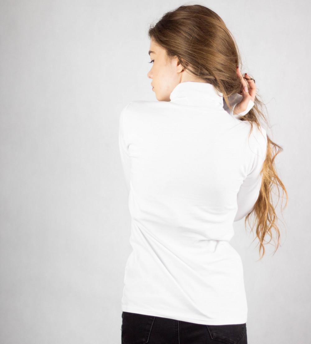 Biała bluzka z golfem Ashley 2
