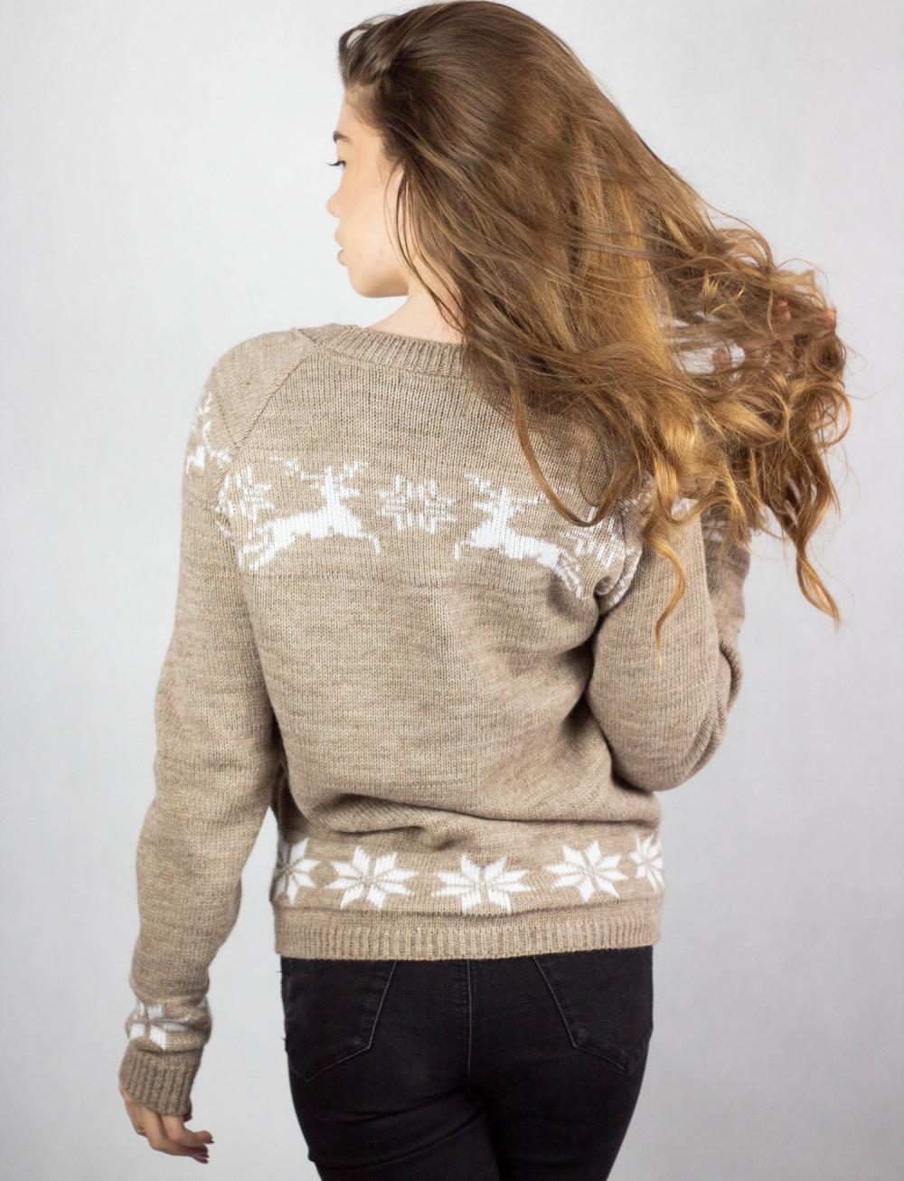 Sweter świąteczny brązowy Renifer 3