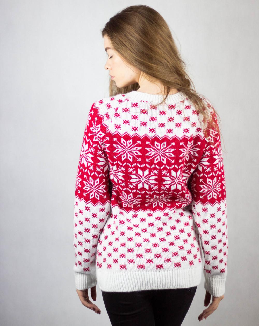 Biały świąteczny sweter Snow 3