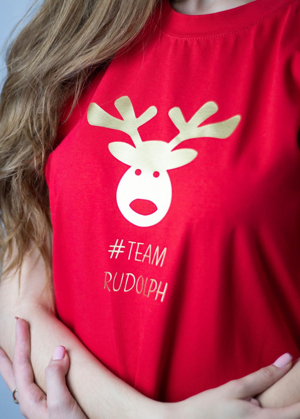 Koszulka czerwona Team Rudolf 3