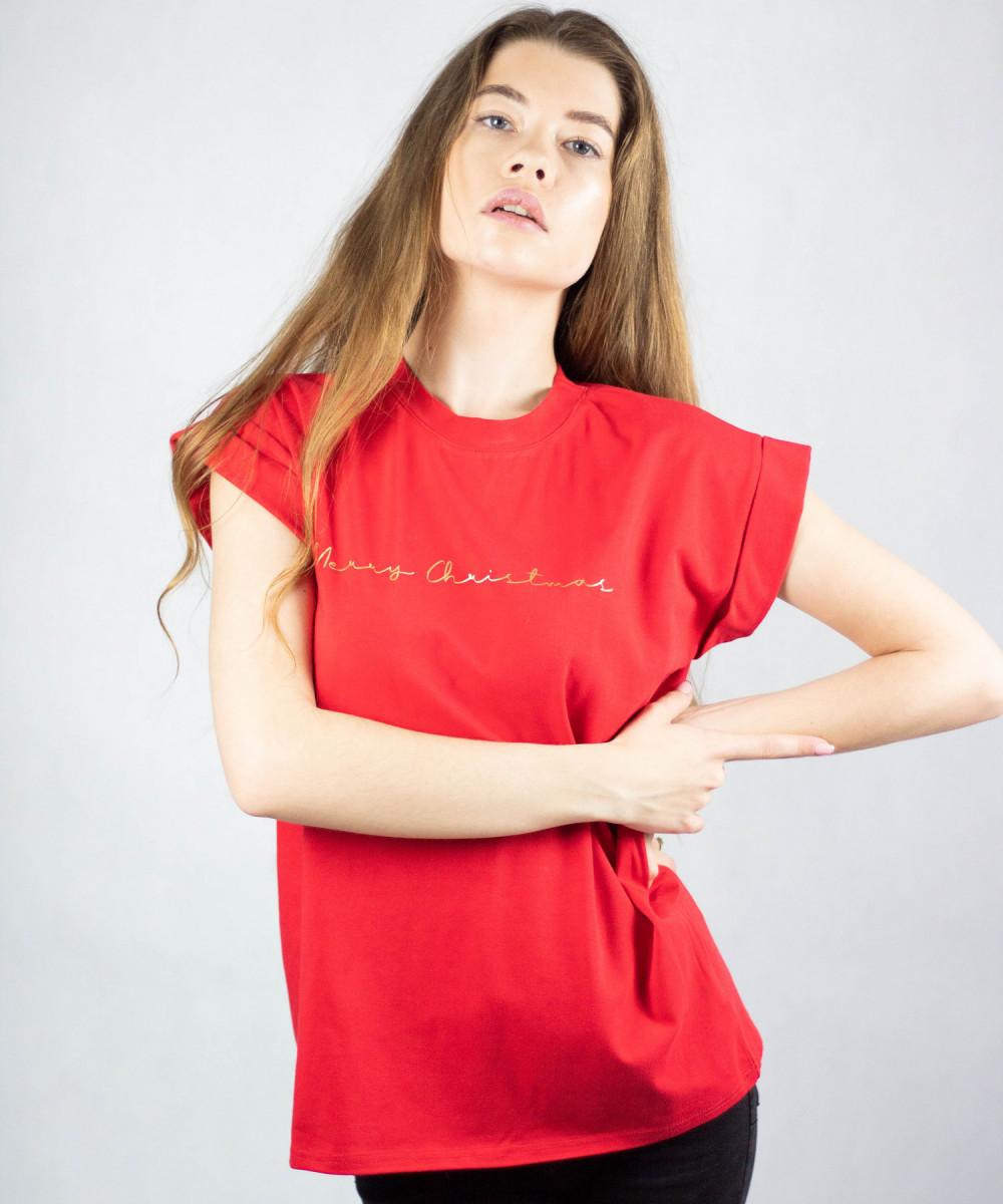 Koszulka czerwona Merry Christmas 4
