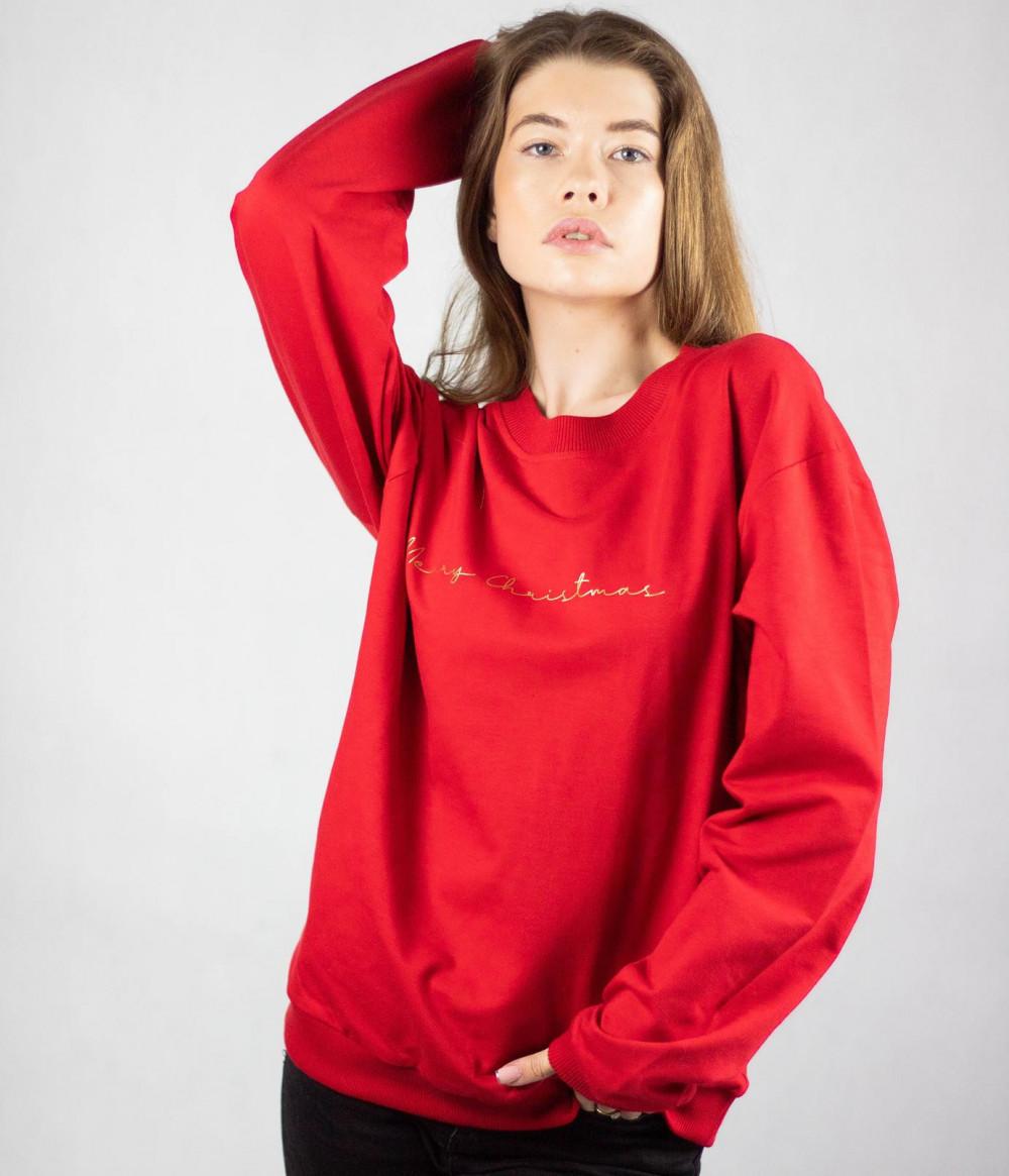 Bluza dresowa czerwona Merry Christmas 3