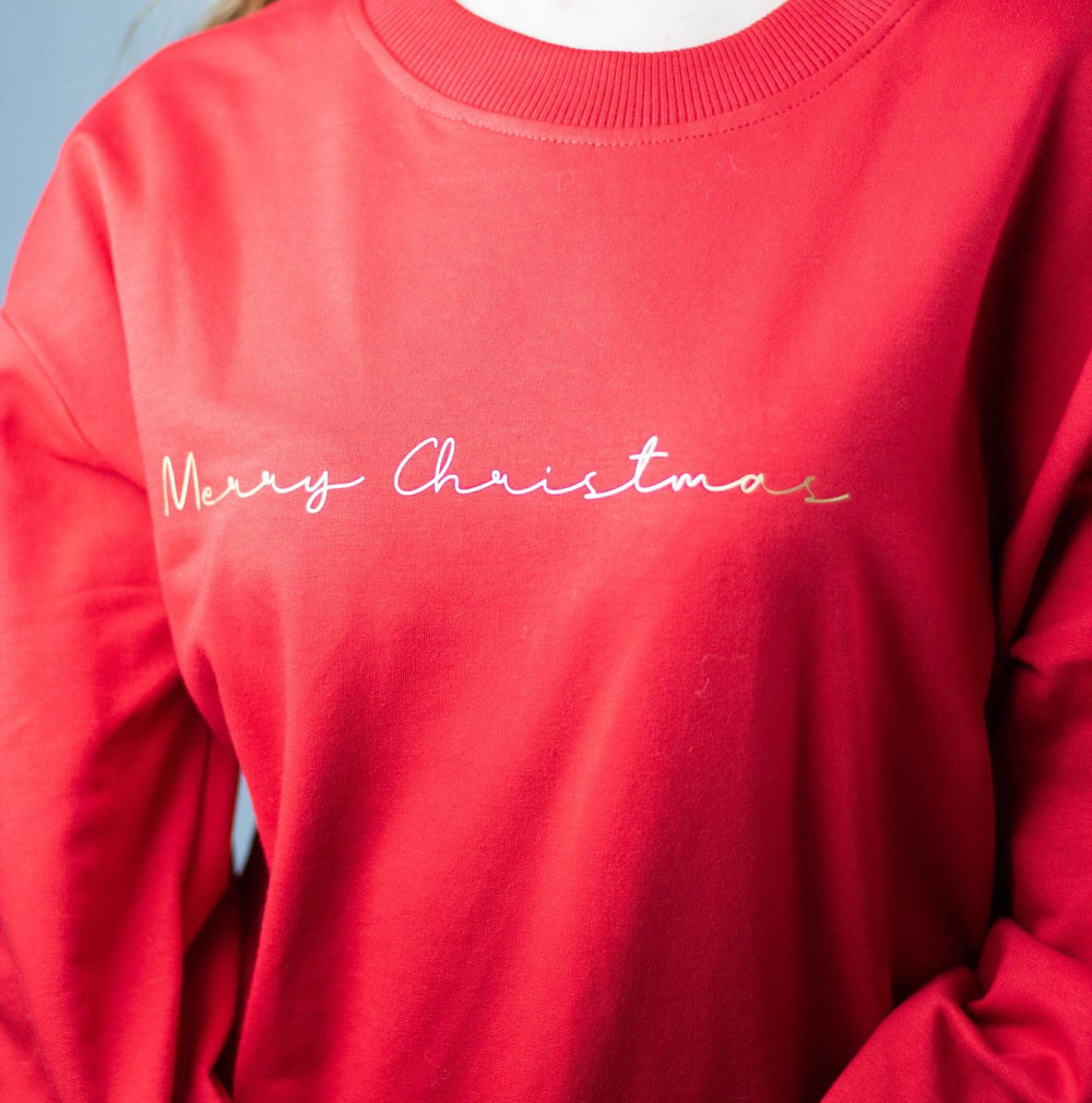 Bluza dresowa czerwona Merry Christmas 1